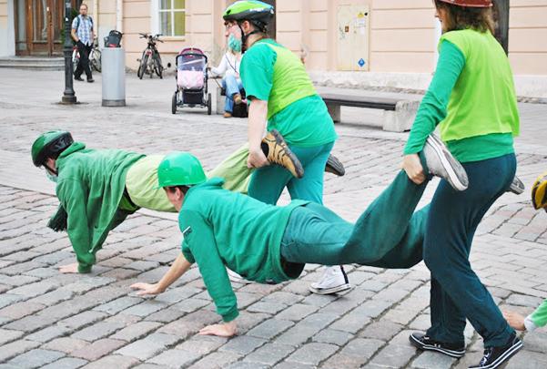Vägitükid: Loodusklass tegemas raskeid samme võidu poole. Foto: Kaisa Põhako.